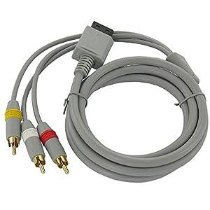AV Kabel mit 3x Cinch für Nintendo Wii ca 1,5M NEU