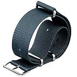 Cinturino orologio ZULUDIVER Nylon NATO Gunmetal Grey, Lucido, 22mm