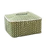 Monbedos Aufbewahrungstasche für Bettdecken und Kissen Wasserdicht Aufbewahrungstasche aus Baumwolle 48*40*23cm Grün