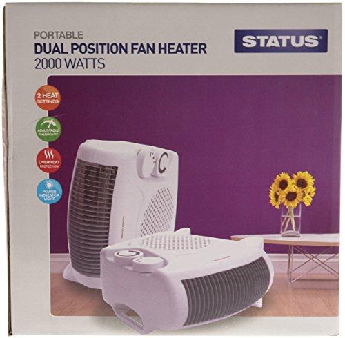 51fAubQ%2BVIL - Status FH2P-2000W1PKB Heater, 2000 W, White