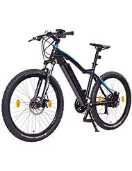 NCM Moscow 27,5 Zoll Elektrofahrrad Mountainbike,E-MTB E-Bike,Pedelec, 36V 250W Bafang Motor, 36V 13Ah designer Rahmen Akku,matt schwarz,hell blau
