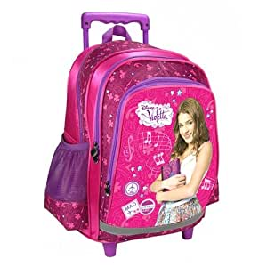 violetta sac a roulette trolley sac a dos cartable neuf disney bagages. Black Bedroom Furniture Sets. Home Design Ideas