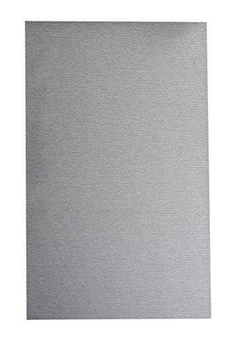 Flachgewebe Teppich Sahara - robuste Kunstfaser in Edler Sisal-Optik | schadstoffgeprüft pflegeleicht strapazierfähig | für Wohnzimmer Schlafzimmer Büro, Farbe:Grau, Größe:100 x 150 cm