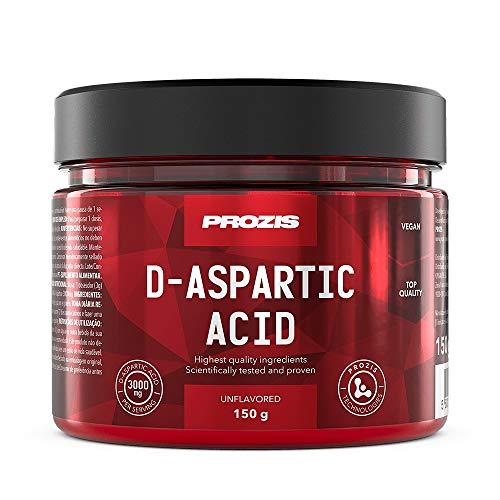 Prozis Acido D-Aspartico 150 g Naturale - Integratore di alta qualità in polvere, pronto per mescolare con la tua bevanda preferita per aggiornare e