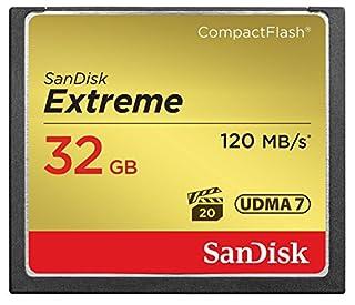 SanDisk SDCFXSB-032G-FFP Extreme CompactFlash Scheda di Memoria 32GB UDMA-7 120MB/S [Imballaggio Apertura Facile di Amazon] (B00Q4X8O9Q) | Amazon Products
