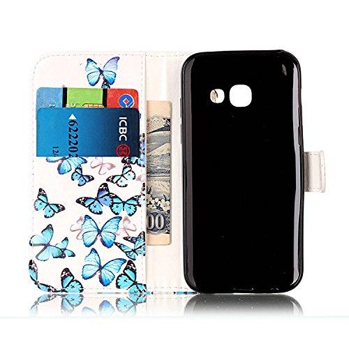 Galaxy-A3-2017-Custodia-Cover-Galaxy-A3-2017-JAWSEU-Samsung-Galaxy-A3-2017-SM-A320F-Custodia-Cover-Wallet-Pouch-Lusso-Liscio-Marmo-Design-Creativo-Custodia-per-Samsung-Galaxy-A3-2017-Telefono-Custodia
