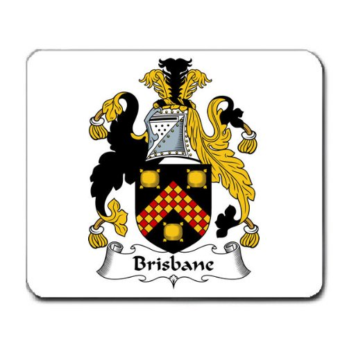brisbane-family-crest-coat-of-arms-mouse-pad