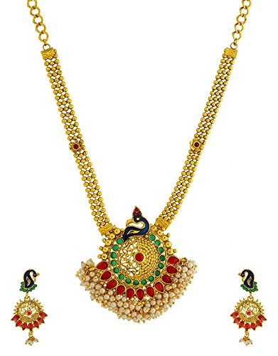 f8b09e30c1 ... Jewellery Sets / Anuradha Art Golden Colour Designer South Indian Styled  Wonderful Traditioanl Pendant Set for Women/Girls. 🔍. Free ...
