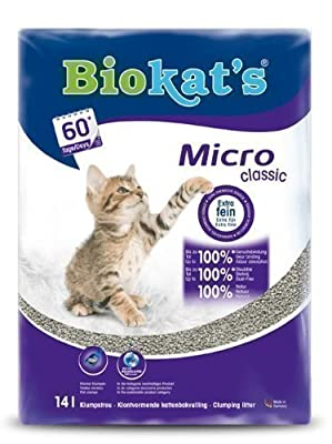 GIMBORN PRODUCTS Gimborn Biokats Micro Classic Cat Litter, 14 Litre