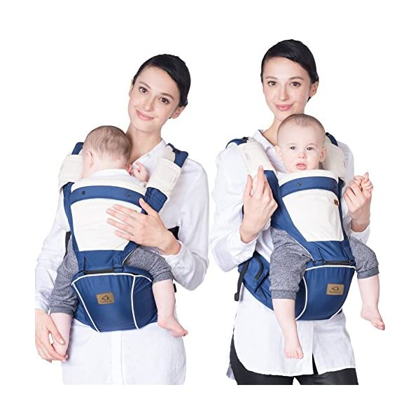 "Bebamour Baby Carrier Hip Seat 5 Carry Ways with Detachable Seat Breathable Baby Carrier for Newborn (Denium Blue) bebear ★ PROMISED QUALITY AND FABRIC - The baby carrier is made with 100% polyester with breathable cotton make baby feel comfortable and cozy. ★ ERGONOMIC DESIGNED - Although it is a baby carrier hipseat, it also is designed according to baby's growth. Suit for baby who is 0-36 months and whose capacity is between 0-33lbs (14.9KG). ★ LIGHTWEIGHT WITH 5 CARRY WAYS - Size of the baby carrier is L11.8""*H9.8""*W7.1""(L20*H25*W18CM); Weight is about 1.2lbs (0.58KG); You can use it by 5 carry ways, details in paper instruction manual. 4"