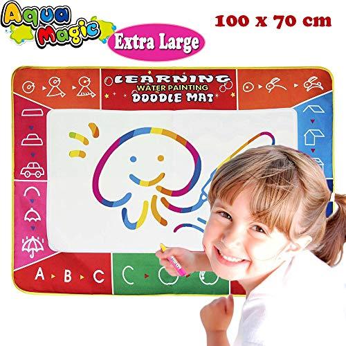 Joy-Jam Spielzeug für Mädchen 2-3 Jahre Aqua Magic Doodle Matte Kinder Spiele ab 2 Jahren Jungen 100*73cm Skizze Malerei Zeichnen und Schreiben mit 3 Stiften
