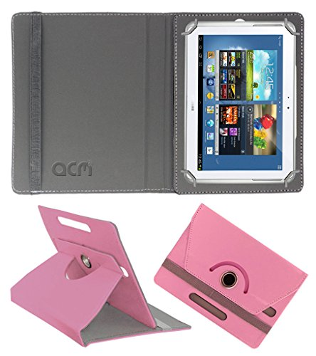 Acm Rotating 360° Leather Flip Case for Samsung Galaxy Note N8000 Cover Stand Light Pink  available at amazon for Rs.189