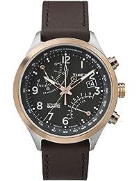 Timex Herren-Armbanduhr Analog Quarz Leder TW2P73400