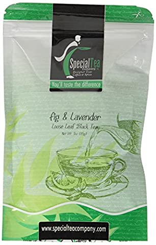 Fig and Lavender Loose Leaf Black Tea 3 oz. with Free Tea Infuser