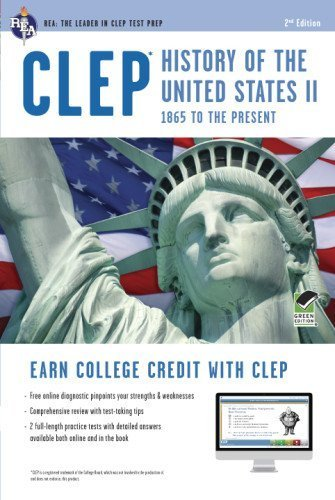 CLEP? History of the U.S. II Book + Online (CLEP Test Preparation) by Marlowe M.A., Lynn Elizabeth (2013) Paperback