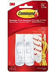 3M Command Medium Hooks, White