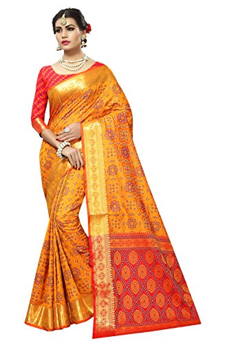 Dream Star Red And Yellow Color Silk Woven Designer Patola Saree