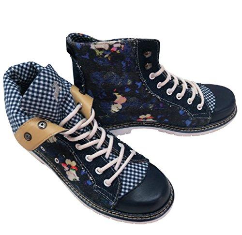 Spieth & Wensky  Jennifer blau, Chaussures à lacets femme Bleu - Bleu