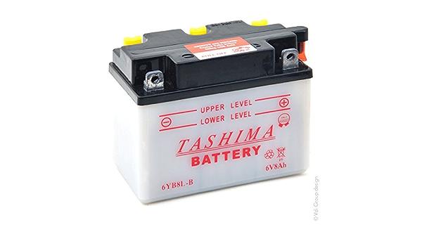 Tashima Motorrad Batterie 6yb8l B 6v 8ah Auto