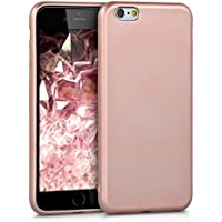 kwmobile Hülle für Apple iPhone 6 / 6S - TPU Silikon Backcover Case Handy Schutzhülle - Cover Metallic Rosegold