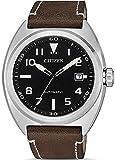 Reloj de Ciudadano Urbano mecnico de Cuero Negro automtico dial NJ0100-11E