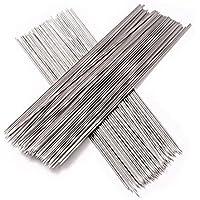 Lumanuby - Lote de 30pinchos de acero inoxidable para barbacoa, 29cm