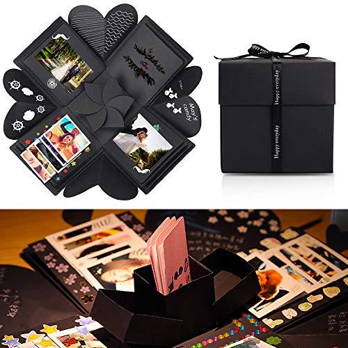 Chengtao Kreative Überraschung Box, Schwarz Explosion Überraschung Box Geschenk DIY Scrapbook und Fotoalbum für Freundin ,Männer Geburtstag Jahrestag...