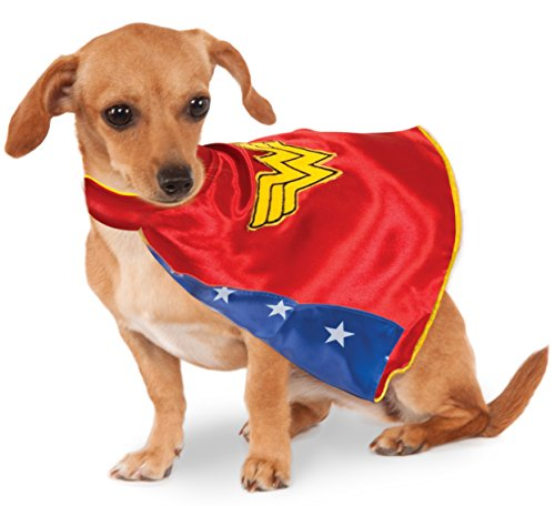 Rubies Costume Company DC Comics Wonder Woman Pet Cape (Pet Kostüm Für Wonder Woman)