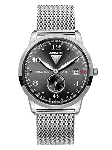 Junkers Men's Quartz Watch with Black Dial Analogue Display Quartz Stainless Steel 6334 M2