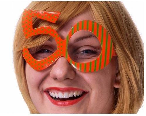Partydeco Gafas con Forma de número 50