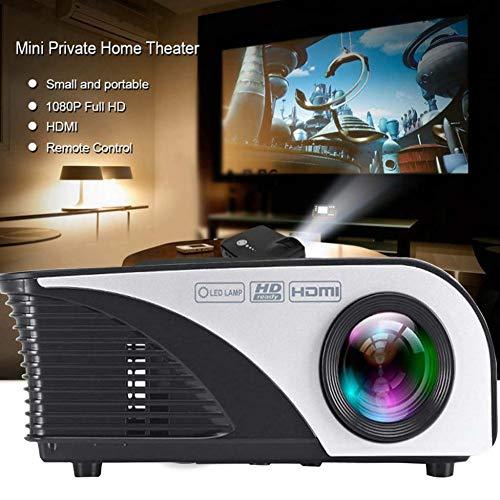 Nt-handys (KAIDILA LCD-HD-Videoprojektor Lumen Multimedia LED-Projektor Cinema Heimkino 1080p unterstützen HDMI USB Outdoor besetzte NT-Projektor für Computer Laptop Handy Spiel Spieler TV Box)