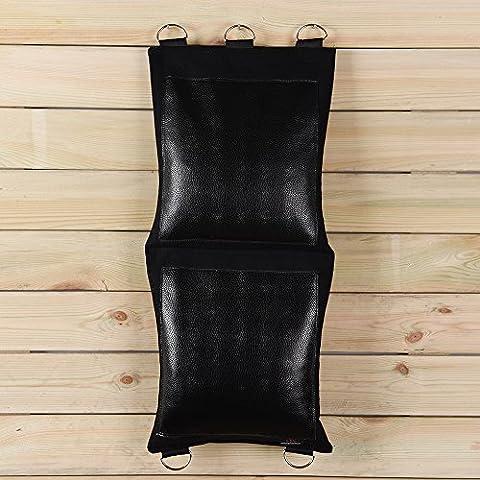 Noir sur toile de Poinçonnage Wallbag pour Wing Chun Richesses Fist Practise différents Style Option (cuir, deux sections) Bcpu002