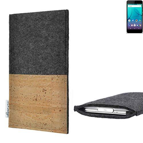 flat.design vegane Handy Hülle Evora für Allview P7 Lite Kartenfach Kork Schutz Tasche handgemacht fair vegan
