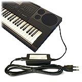 ABC Products ® repuesto para Casio Volt 12 V DC/12-Adaptador de cargador de pared y Cable (AD-A12150LW, AD-A12150, Privia Pro) para Casio Synthesizers/Stage Piano's, portátil, diseño de teclado, color teclado Serie () modelos