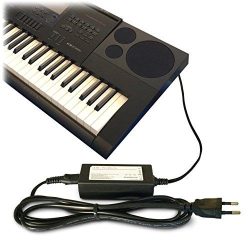ABC Products® Ersatz-Netzteil für Casio Synthesizer/Stagepiano/tragbares Keyboard/E-Klavier, Gleichspannung 12V/12Volt Adapter (AD-A12150LW, AD-A12150, Privia Pro) (Modellnummern s.u.) Casio-audio