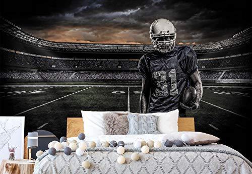 American Furniture Warehouse (Wallsticker Warehouse American-Football-Spieler Stadion Vlies Fototapete Fotomural - Wandbild - Tapete - 368cm x 254cm / 4 Teilig - Gedrückt auf 130gsm Vlies - 1115V8 - Fußball & Sport)