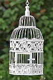 Deko-Vogelkaefig Vogelkaefig Antik Kolonialstil Weiss - H39cm