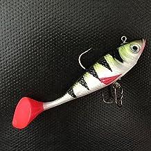 Paxten (TM) venta caliente 2piezas 11cm 19g cebos señuelos de pesca, con T cola agudos gancho de punta suave, verde