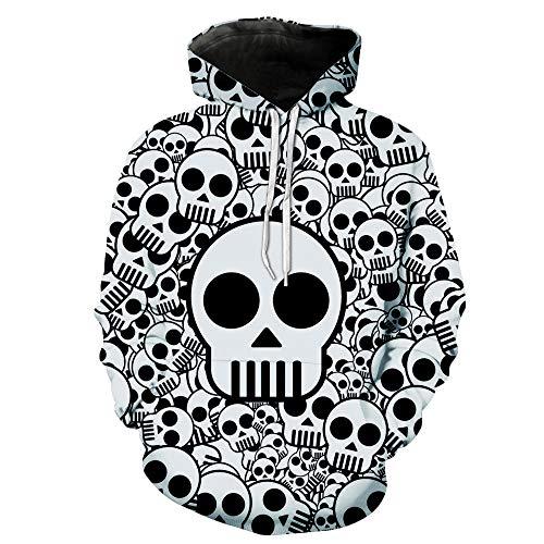 Mit Zu Geld Bezug Kostüm - ACBANANA Halloween Hoodie Pullover Unisex Menschlichen Knochen 3D Digitaldruck Übergröße Langarm Pullover Neuheit