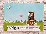 Muttertagskarte 3D Karte MOM + ME, handgemacht und handcoloriert mit Umschlag/Kuvert A6