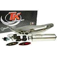 Turbo Kit Carreras 80 cromo Tubo de escape para Derbi Senda Drd 50, Gilera Rcr