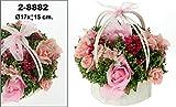 DonRegaloWeb - Cesta - Centro de flores en colores rosas con cesto