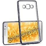 La caja del cromo para Samsung Galaxy A5 (2015) | Funda de silicona transparente con efecto metálico | Protección de celda fina bolsa de OneFlow | Backcover en Anthracite-Black