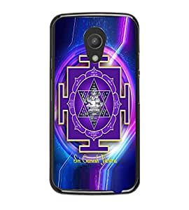 Fuson Premium Sri Ganesh Yantra Metal Printed with Hard Plastic Back Case Cover for Motorola Moto G (2nd Gen)