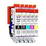 5 Multipack XL Canon CLI-526 , PGI-525 Patronen Kompatible. 1 schwarz (klein), 1 cyan, 1 magenta, 1 gelb, 1 schwarz (groß) für Canon Pixma iP4850, Pixma iP4950, Pixma iX6550, Pixma MG5150, Pixma MG5250, Pixma MG5350, Pixma MG6150, Pixma MG8150, Pixma MX715, Pixma MX885, Pixma MX895. Tintenpatrone. Tinten kompatible Druckerpatronen. CLI-526BK , CLI-526C , CLI-526M , CLI-526Y , PGI-525BK © Patronenland