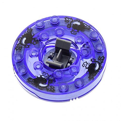 1 x Lego System Ninjago Spinner gewölbt 6x6 transparent Violette Schwarze Lord Garmadon mit Gleitstein Set 2256 4633931 bb493c10pb01