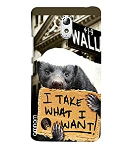 Omnam I Take What I Want Printed Designer Back Cover Case For Lenovo Vibe P1 M