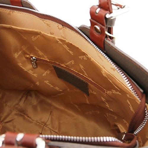 Tuscany Leather - TL Bag - Borsa a mano in pelle Saffiano - TL141177/25 (Talpa chiaro) Talpa chiaro