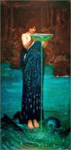 Poster 60 x 120 cm: Circe Invidiosa von John William Waterhouse - hochwertiger Kunstdruck, neues Kunstposter