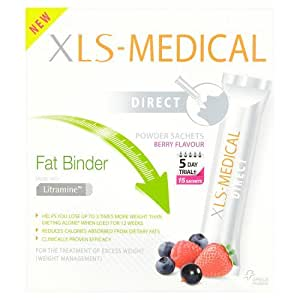 XLS Medical Fat Binder Direct Weight Loss Aid 5 Day Trial Pack, 15 Sachets